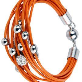 Besonders prachtvoll gestaltete Lederarmbänder mit Straßkugel und Metallkugeln zusammengesetzt aus zahlreichen verschiedenstenwunderschönen Schmuckkomponenten