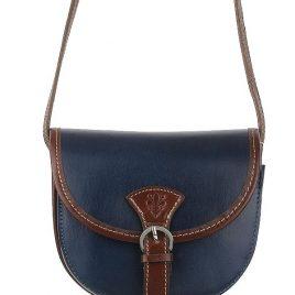 """Sehr edle Damenhandtasche aus hochwertigem """"echtem Leder"""". Die Handtasche ist innen mit zwei Fächern versehen und hat seitlich ein Fach mit einem Reisverschluß. Die Tasche hat die Maße H 17cm x B6"""
