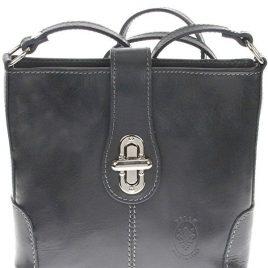 """Sehr edle Damenhandtasche aus hochwertigem """"echtem Leder"""". Die Handtasche ist innen mit einem Satin ähnlichem Stoff gearbeitet und hat seitlich ein Fach mit einem Reisverschluß. Die Tasche hat die Maße H 19 cm x B 7 cm x L 20 cm. Eine tolle Tasche für jeden Anlaß!!!"""