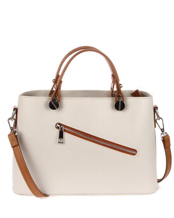 """Sehr edle Damenhandtasche aus hochwertigem """"echtem Leder"""". Die Handtasche ist innen mit einem Satin ähnlichem Stoff gearbeitet und ist seitlich auf der Innenseite mit einem Reisverschluß versehen. Die Tasche hat die Maße H 20 cm x B 10 cm x L 30 cm. Eine tolle Tasche für jeden Anlaß!!!"""