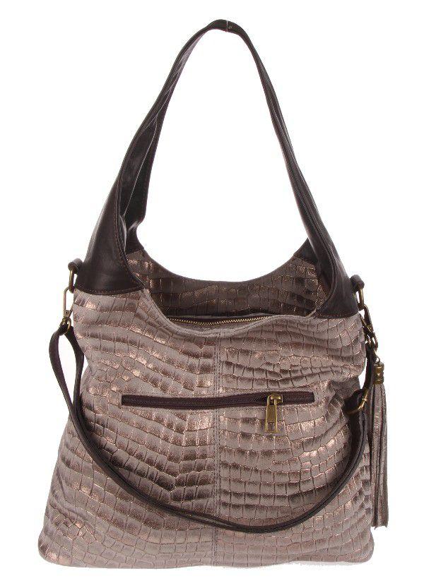 """Sehr edle Damenhandtasche aus hochwertigem """"echtem Leder"""". Die Handtasche ist innen mit einem Satin ähnlichem Stoff gearbeitet und hat drei getrennte Fächer und ist seitlich auf der Innenseite mit einem Reisverschluß versehen. Die Tasche hat die Maße H 30 cm x B 16 cm x L 40 cm. Eine tolle Tasche für jeden Anlaß!!!"""
