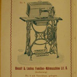 Antike, sehr seltene Nähmaschine, Weltausstellung Amsterdam 1883 (Rarität)