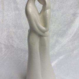Liebespaar Dekofigur Skulptur Weiß Keramik
